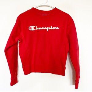 Champion | Reverse Weave Script Sweatshirt Red